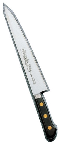 ミソノ刃物 ミソノ・スウェーデン鋼(龍彫刻入)筋引 121M 24 AMS13121 [7-0293-1201]
