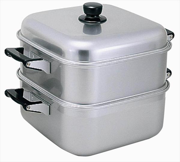 アカオアルミ アルマイト角型蒸器 30cm 一重 AMS71301 [7-0385-0905]