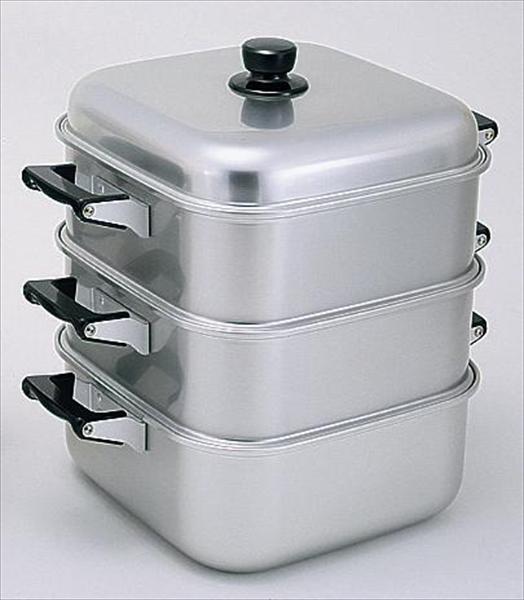 アカオアルミ アルマイト角型蒸器 30cm 二重 6-0371-0906 AMS71302
