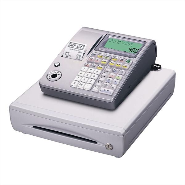カシオ カシオ レジスター TE-400 (10部門) ライトシルバー No.6-2378-0103 XLZ5203