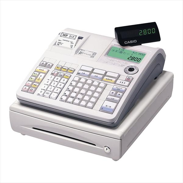カシオ カシオ レジスターTE-2800-25S (25部門) ホワイト 6-2377-0201 XLZ4901