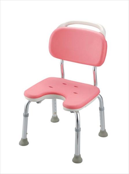 リッチェル やわらかシャワーチェア ピンク U型背付コンパクト 6-2257-0201 VSY0501