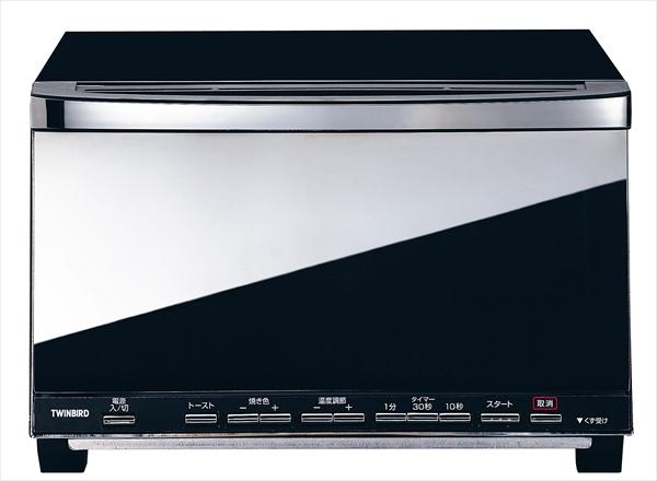 ツインバード工業 ミラーガラス オーブントースター TS-D057B 6-0858-0501 FTC8501