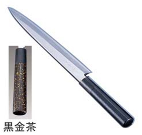 インテックカネキ 歌舞伎調和庖丁 忠舟 柳刃 30cm 黒金茶 6-0275-0907 ATD0107
