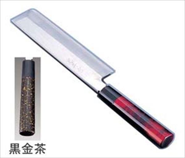 インテックカネキ 歌舞伎調和庖丁 忠舟 薄刃 21cm 黒金茶 6-0275-1107 ATD0307