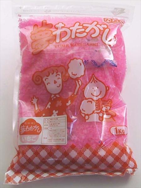 ハニー わた菓子用ザラメ 夢わたがし イチゴ (1kg×20袋入) 6-0857-0901 GWT061
