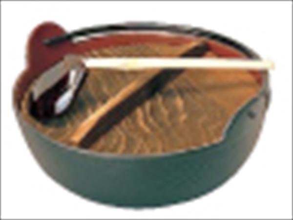 東伸販売 五進 田舎鍋(鉄製内面茶ホーロー仕上) 24cm(杓子付) QIN06024 [7-2013-1005]