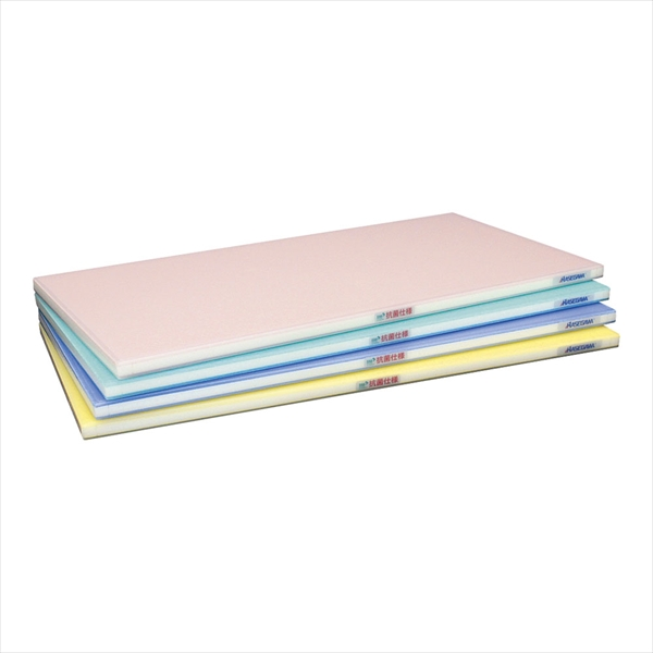 抗菌ポリエチレン全面カラーかるがるまな板 460×260×H18 青 No.6-0335-0207 AMNJ906