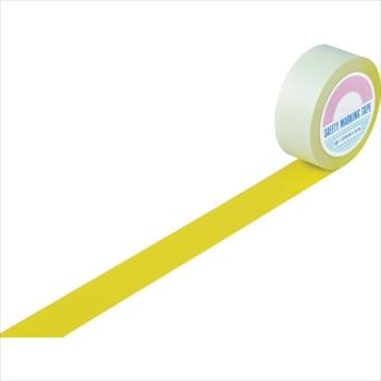 (株)日本緑十字社 緑十字 ラインテープ(ガードテープ) 黄 50mm幅×100m 屋内用 [ 148053 ]