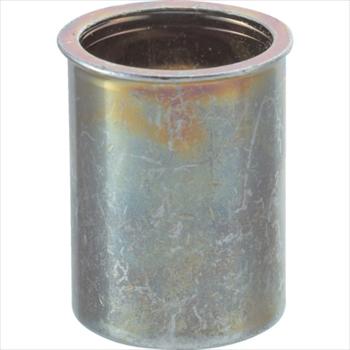 トラスコ中山(株) TRUSCO クリンプナット薄頭スチール 板厚1.5 M4X0.7 1000個入 [ TBNF4M25SC ]