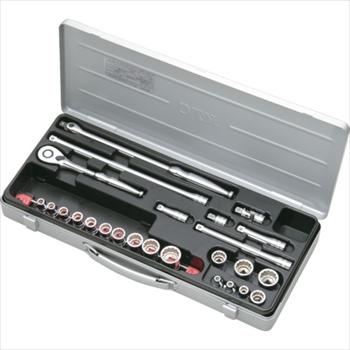 京都機械工具(株) KTC 9.5sq.ソケットレンチセット[25点] オレンジB [ TB317X ]