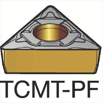サンドビック(株)コロマントカンパニー SANDVIK サンドビック コロターン107 旋削用ポジ・チップ 1515 [ TCMT16T304PF ]【 10個セット 】