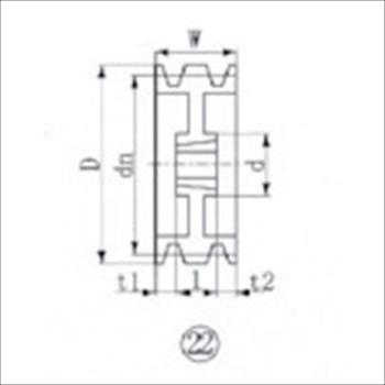 エバオン(株) EVN ブッシングプーリー SPA 280mm 溝数3 [ SPA2803 ]