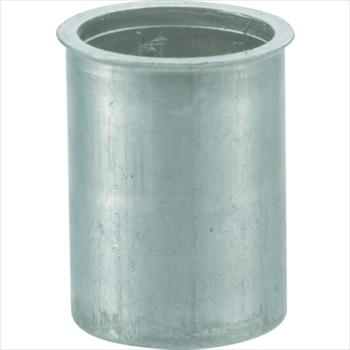 トラスコ中山(株) TRUSCO クリンプナット薄頭アルミ 板厚2.5 M4X0.7  1000個入 [ TBNF4M25AC ]