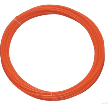 トラスコ中山 株 バーゲンセール TRUSCO ポリウレタンチューブ オレンジ TEN610 6X4.0mm 買い取り 10m巻