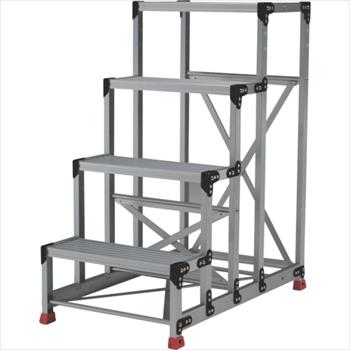 トラスコ中山(株) TRUSCO 作業用踏台 アルミ製・高強度タイプ 4段[ TSF4612 ]