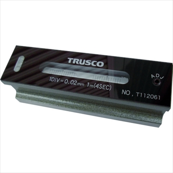 トラスコ中山(株) TRUSCO 平形精密水準器 B級 寸法250 感度0.02 [ TFLB2502 ]