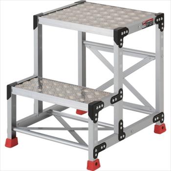 トラスコ中山(株) TRUSCO 作業用踏台 アルミ製・縞板タイプ 天板寸法500X400XH600[ TSFC256 ]