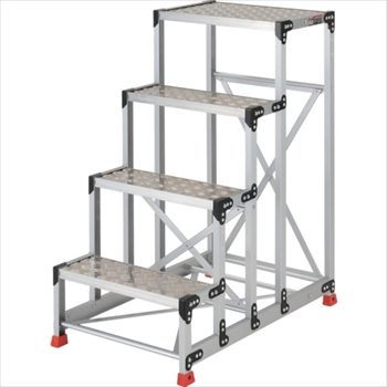トラスコ中山(株) TRUSCO 作業用踏台 アルミ製・縞板タイプ 天板寸法600X400X1200[ TSFC4612 ]