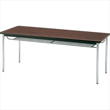 トラスコ中山(株) TRUSCO 会議用テーブル 1500X750XH700 丸脚 ローズ [ TDS1575T ]