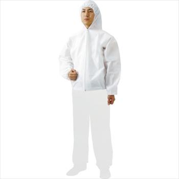 トラスコ中山(株) TRUSCO まとめ買い 不織布使い捨て保護服フード付ジャンバー L (60着) [ TPCFL60 ]