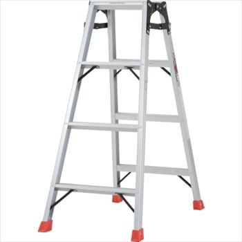 トラスコ中山(株) TRUSCO はしご兼用脚立 アルミ合金製・脚カバー付 高さ1.11m [ THK120 ]