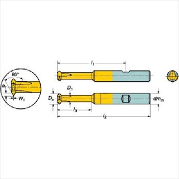 サンドビック(株)コロマントカンパニー SANDVIK サンドビック コロミル326ソリッドエンドミル 1025 [ 326R08B3502012CH ]