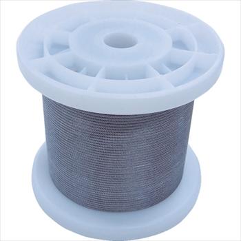 (株)ニッサチェイン ニッサチェイン 透明コーティングワイヤロープ 0.85mm×100m 1巻[ TSY8VCLR ]