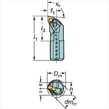 サンドビック(株)コロマントカンパニー SANDVIK サンドビック T-Max P ネガチップ用ボーリングバイト [ A32UMWLNR08 ]