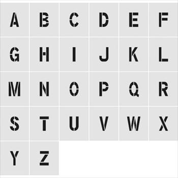 (株)アイマーク IM ステンシル A~Z 1セット26枚単位 文字サイズ250×125mm オレンジB [ ASTSETA250125 ]