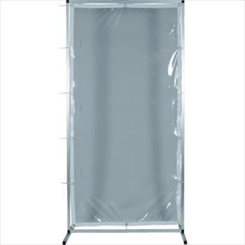 トラスコ中山(株) TRUSCO オレンジブック アルミ製衝立 透明防炎タイプ W2000XH1500 [ AF2015TM ]