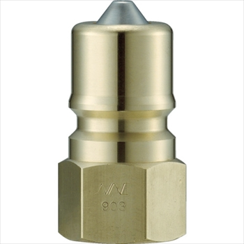 CSP16P2 真鍮製 オネジ取付用 ナック 長堀工業(株) ] [ クイックカップリング S・P型