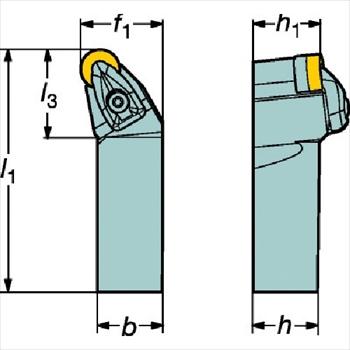 サンドビック(株)コロマントカンパニー SANDVIK サンドビック コロターンRC ネガチップ用シャンクバイト [ DRSNL2525M12 ]