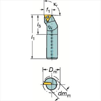 サンドビック(株)コロマントカンパニー SANDVIK サンドビック コロターン111 ポジチップ用ボーリングバイト [ F12QSTFPR09R ]