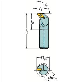 サンドビック(株)コロマントカンパニー SANDVIK サンドビック コロターン111 ポジチップ用ボーリングバイト [ E16RSDUPR07R ]