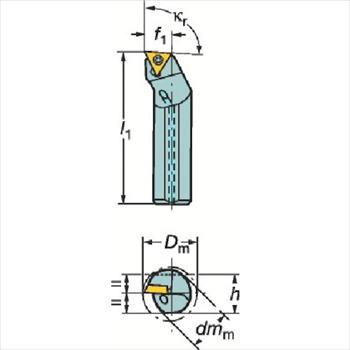 サンドビック(株)コロマントカンパニー SANDVIK サンドビック コロターン107 ポジチップ用超硬ボーリングバイト [ E16RSTFCR11RB1 ]