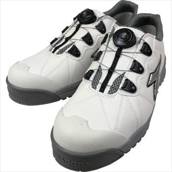 ドンケル(株) ディアドラ DIADORA安全作業靴 フィンチ 白/銀/白 25.0cm [ FC181250 ]