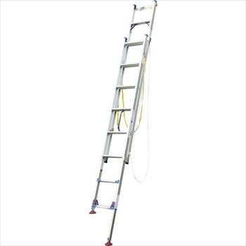 (株)ピカコーポレイション ピカ 脚アジャスト式2連はしごLGW型電柱支え・巻付ベルト付属4.2~4.6m [ LGW44GD ]
