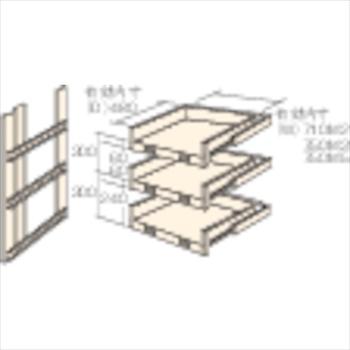 ★直送品・代引不可★トラスコ中山(株) TRUSCO M2型棚用スライド棚 3段セット [ HTM29003 ]