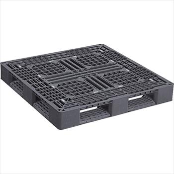 日本プラパレット(株) NPC プラスチックパレットLA-1111RR 片面四方差し 黒 [ LA1111RRBK ]