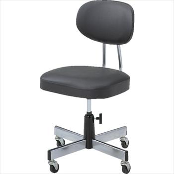 トラスコ中山(株) TRUSCO オレンジブック 事務椅子 ビニールレザー張り ブラック [ L2095 ]