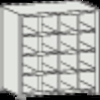 トラスコ中山(株) TRUSCO オレンジブック KB型区分棚コボレ止め付 889X264XH927 4列4段 [ KB4043 ]