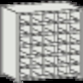 トラスコ中山(株) TRUSCO オレンジブック KB型区分棚コボレ止め付 889X264XH927 5列6段 [ KB5063 ]