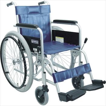 (株)カワムラサイクル カワムラ スチール製車椅子 座幅42CM オレンジB [ KR801N ]