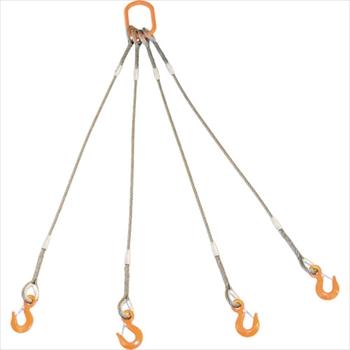 トラスコ中山(株) TRUSCO オレンジブック 4本吊りWスリング フック付き 6mmX3m [ GRE4P6S3 ]