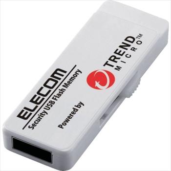 エレコム セキュリティ機能付USBメモリー 8GB 5年ライセンス オレンジB [ MFPUVT308GA5 ]