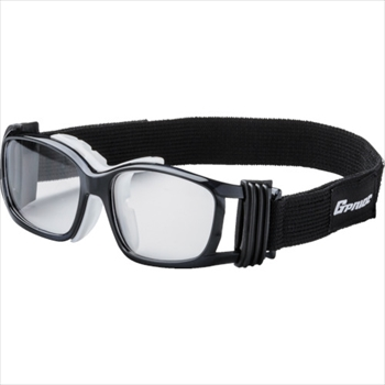 (株)GLASSART EYE-GLOVE 二眼型安全ゴーグル ブラック+度付レンズセット(マルチコート オレンジB [ GP88MBKM ]