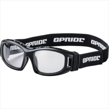 (株)GLASSART EYE-GLOVE 二眼型セーフティゴーグル ブラック (度なしレンズ) オレンジB [ GP98BK ]