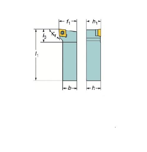 サンドビック(株)コロマントカンパニー SANDVIK サンドビック コロターン107 ポジチップ用シャンクバイト [ SCLCR2525M12 ]