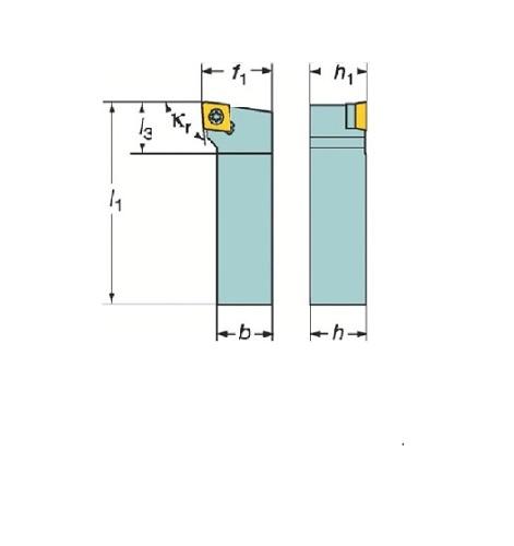 サンドビック(株)コロマントカンパニー SANDVIK サンドビック コロターン107 ポジチップ用シャンクバイト [ SCLCL2525M12 ]
